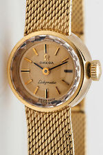 $6000 Vintage OMEGA Ladymatic 14k Yellow Gold Ladies Watch WTY