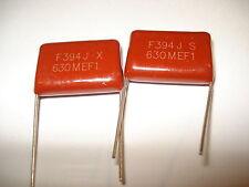 (2) Brown Dip Metallized Polypropylene Capacitor 630V394J  .39uF Free Shipping