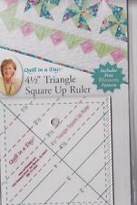 "4.5"" Triangle Square Up ruler & PATTERN - easy to use, no math cutting"