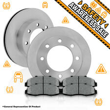 Front Rotors & Metallic Pads GMC K2500 K3500 CHEVY SUBURBAN 1500 2500 DODGE RAM