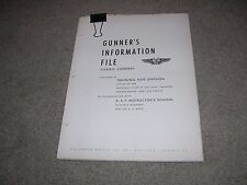 WWII Gunners Information File Machine Guns .50 cal Air Force/Navy