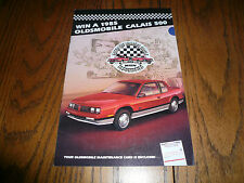 1985 Oldsmobile Calais 500 Sales Folder Plus Entry Form to win a Calais 500