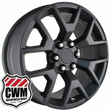 "20 inch OE Performance 169MB GMC Sierra Wheels Matte Black 20x9"" Rims fit GMC"