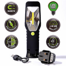 Ultra Bright COB LED Rechargeable Worklight Inspection Lamp Torch Cordless Light