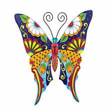 Metal Butterfly Wall Art Home Outdoor Patio Garden Fence Colorful Hanging Decor