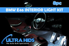 BMW 3 SERIES E46 CONVERTIBLE LED LIGHT KIT INTERIOR FOOTWELL BOOT GLOVE BOX 8pc