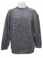 100% BABY ALPACA CREWNECK SWEATER FOR MEN SIZE XL