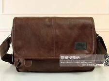 Men  travel pu Leather messenger shoulder woke bag bolsas crossbody book bag