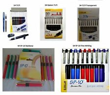 High Quality Dollar Fountain Pen Qalam 717i,Transparent,  SP-10 (PACK OF 10)