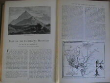 Cameroons Mountain Lost Mountaineering Climbing H H Johnston Old 1904 Article