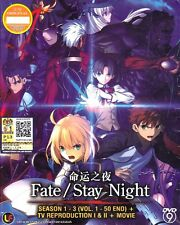 Fate/ Stay Night Season 1-3 Ep1-50End + TV Reproduction + Movie DVD Eng Sub 0R