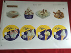 SET OF 9 CADBURY'S 99 FLAKE P.O.S ICE CREAM STICKER DISPLAY SIGN - CAFE SHOP VAN