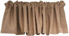 BURLAP VALANCE Curtain Window Natural Primitive French Country Farmhouse