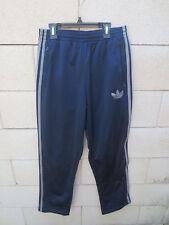 Pantalon ADIDAS Trefoil rétro vintage sport détente pant bleu marine S