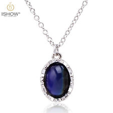 Luxury Sensitive Liquid Crystal Thermo Mood Color Change Chain Pendant Necklace