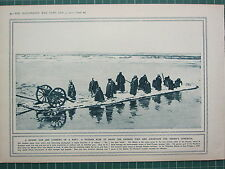 1915 WWI WW1 PRINT ~ RUSSIAN RUSE TO DRAW THE GERMAN FIRE DUMMY GUN RAFT