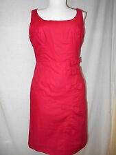 Moulinette Soeurs Anthropologie Cascading Bows Shift Dress Sz 2 Red Pockets Cute