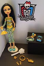 MONSTER HIGH DOLL CLEO de NILE DEAD TIRED COMPLETE! + First Wave Extras