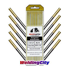 "WeldingCity 1.5% Lanthanated TIG Tungsten Electrodes (Gold) 1/16"" x 7"" 10-pk"