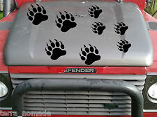 10 x Grizzly Bear Paw Print Stickers Car Decals animal Lots of Colours, 4x4