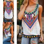 Womens Summer Casual Chiffon Vest Cami Tank Tops Loose Sleeveless Shirt Blouse