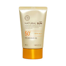 THE FACE SHOP Natural Sun Eco Power Long Lasting Sun Cream - 50ml (New)