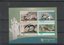 Papua New Guinea 2012 MNH Cuscus & Possums 4v M/S Wild Animals Fauna Gliders