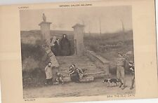 BF18964 walker the old gate national gallery mill painting art  front/back image