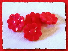 LOT 5 BOUTONS Rouge * 15 mm * 1,5 cm pied Fantaisie button Red mercerie