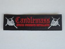 CANDLEMASS DOOM METAL EMBROIDERED PATCH