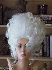SIN CITY WIGS BRIGHT WHITE BIG HAIR UP DO WAVY CURLS MESSY SEXY TALL GLAMOROUS