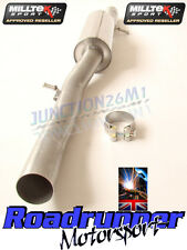 MILLTEK GOLF R32 MK4 EXHAUST RESONATED CENTRE SECTION QUIETER MSVW245 *NEW*