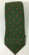 Ralph Lauren Polo Tie Wool Green Dog Animal Print New 57 x 3.5 Made in Italy