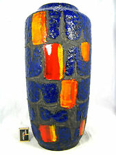 "Unusual 70´s "" Fat Lava "" design Scheurich Keramik pottery  vase  517 - 50"