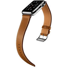Leather Buckle Wrist Watch Strap Band Belt for Apple Watch 42mm Brown Color US05