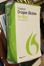DRAGON DICTATE FOR MAC 4.0 USB HEADSET BOX IS IN ROUGH SHAPE CONTENT UNHARMED