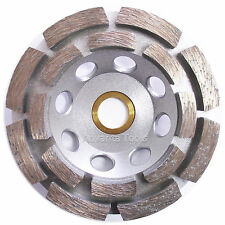 "4"" Standard Double Row Concrete Diamond Grinding Cup Wheel for Angle Grinder"