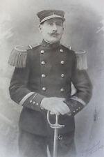 Photographie ancienne Soldat Marin avec épée 1915 O. Douillenot Marine 29 x 40