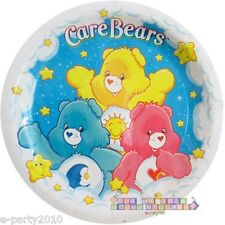 CARE BEARS LARGE PAPER PLATES (8) ~ 1st Birthday Party Supplies Dinner Luncheon