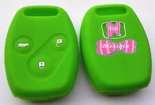 GREEN SILICONE CAR KEY COVER FOR HONDA CIVIC ACCORD ODYSSEY CITY EURO FIT