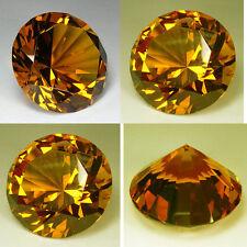 Huge Brilliant Round (80 mm) Lab Yellow Diamond Crystal AAA D13