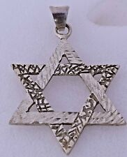 Sterling Silver Vintage Premax Taxco Mexico Star of David Pendant Pretty Ornate