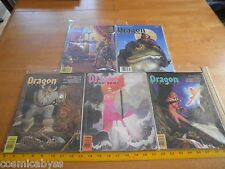 Dragon 1980s Magazine 5 piece roll playing lot 131 134 135 136 139 AD&D