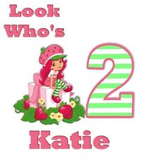 Strawberry Shortcake Tshirt Personalize Birthday custom , Adult & Youth