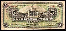 El Banco Mercantil de Veracruz 5 Pesos 4.10.1903, M528b / BK-VER-2 VG+