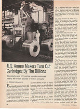 1971 3 ppg art 713a for US Ammo Maker  The .22 cal. bullet Manufacturing process