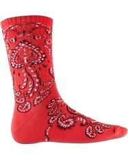 Spitfire Paisley Red Crew Skateboard Socks