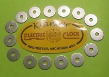 Cleveland vintage electric neon clock special washers outside can trim 15 pieces