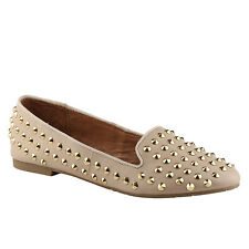 Ladies ALDO CORINETTE Nude Patent Stud Loafer UK 5.5 EU 38.5 RRP £60 ONLY £20