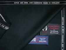 "99% SUPER 120's WOOL WORSTED AND 1% CASHMERE ""TUXEDO"" SUITING FABRIC - 3.4 m."